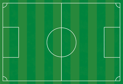 Soccer court illustration