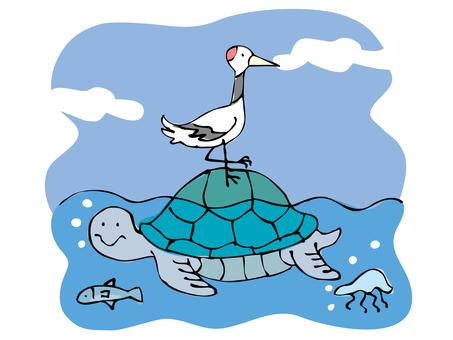 필기 바람 - 덩굴과 바다 거북