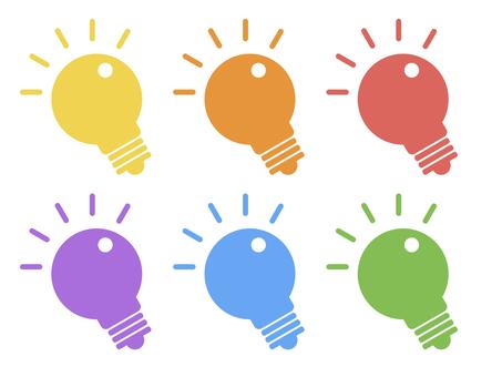 Light bulb electric inspiration icon set