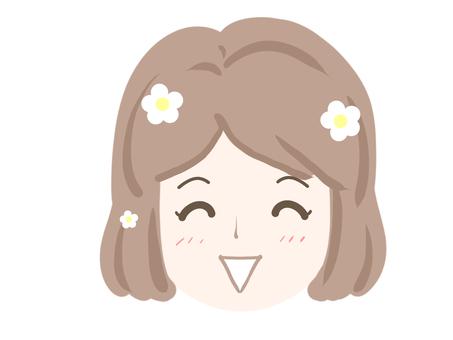 Women smiling face smiling