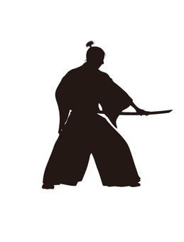 Samurai silhouette 5