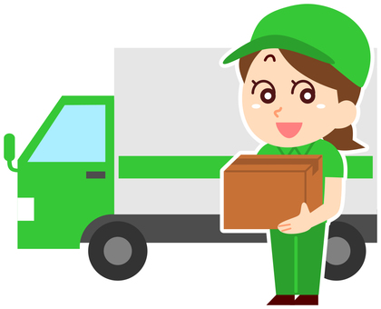 Truck and deliveryman