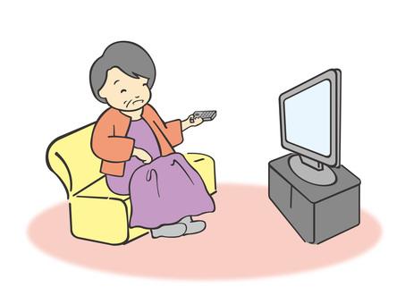 おばあちゃんとテレビ