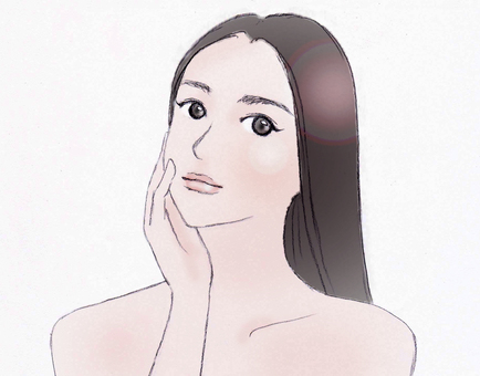 Woman Beauty Cartoon style Light color