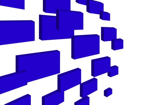 3d square blue