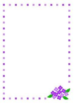 Hydrangea Frame (purple)