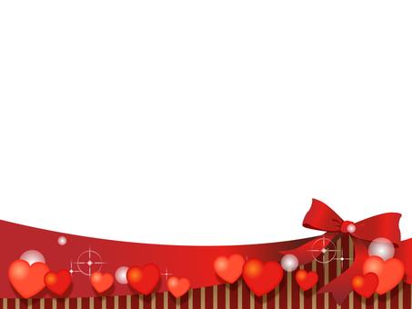 Heart and ribbon decorative frame