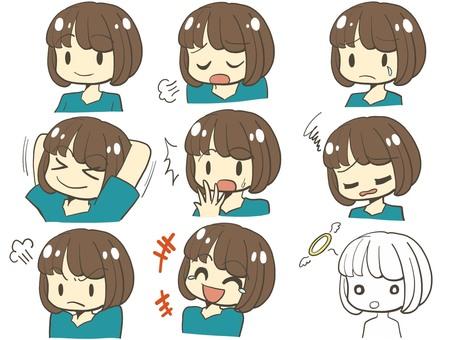 Girl face icon 01