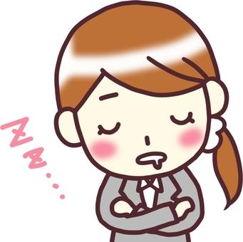 [여성 정장] 아래 기울여 _자는