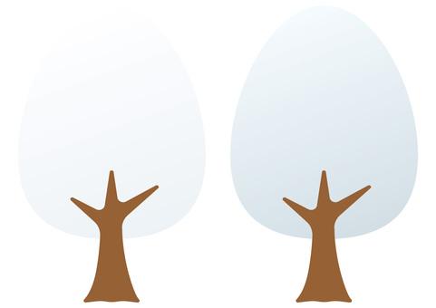 나무 4 개