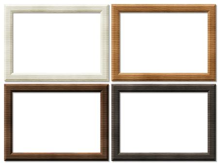 Wooden frame woodgrain white brown black shabby chic
