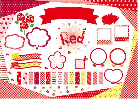 RED 소재 패턴