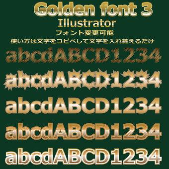 Gold gold letter font 5