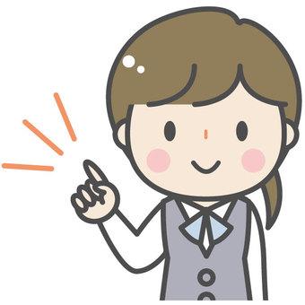 Cute female company clerk clerk OL