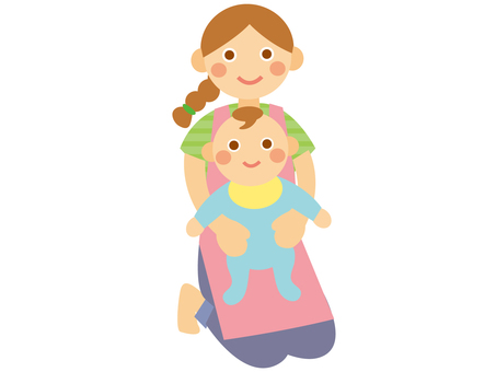 Childminder and baby
