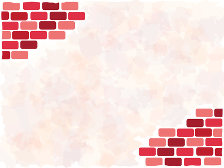 Background frame material with brick walls