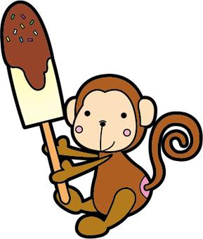 Monkey chocolate banana