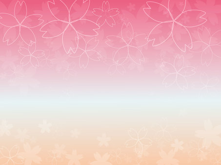 Sakura simple pink background