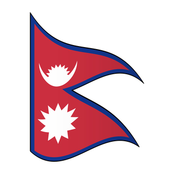 Flag of Nepal / Flapping