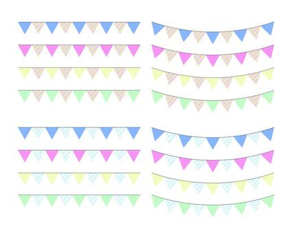 Cute decorative ruled line of triangle
