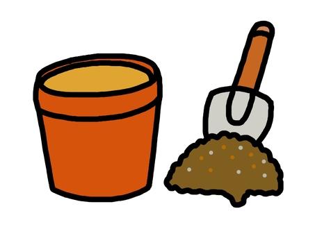 Pot soil scoop kitchen garden