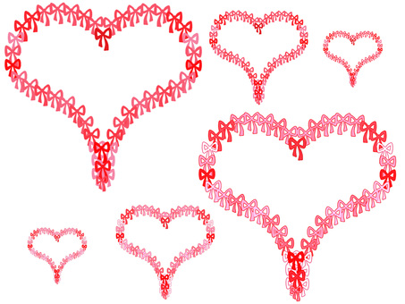 Ribbon heart (red)