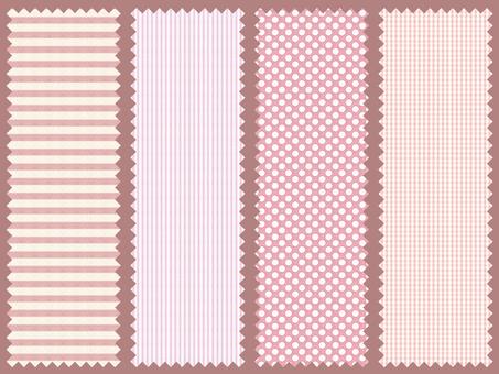 Cotton label (pink)
