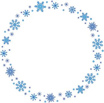 Snow crystal line line (circle)