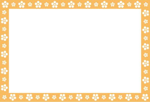 日式花橙色框架
