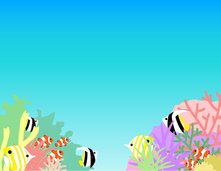 Tropical Fish _ Coral Reef _ Gradient