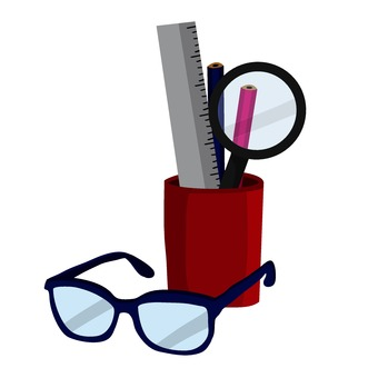 Glasses and stationery