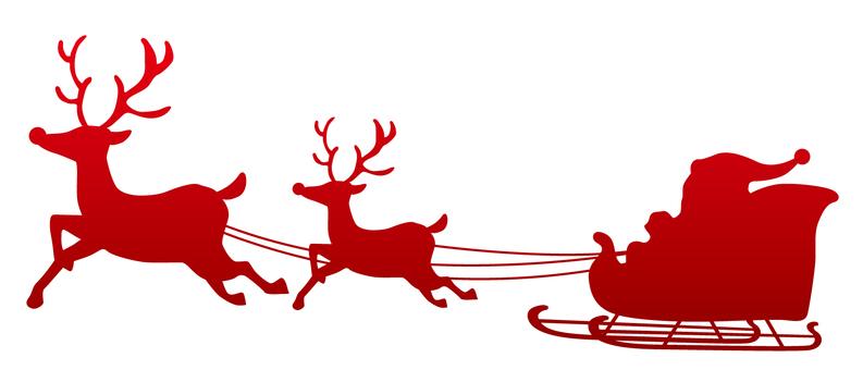 Christmas silhouette Dark red