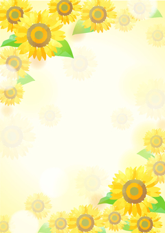 Pastel color sunflower background 2