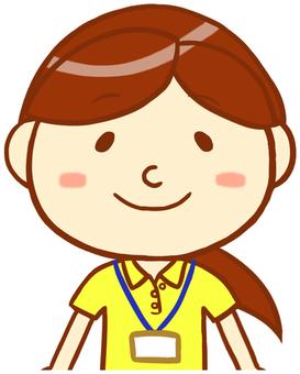 "Polo shirt female ""yellow"""