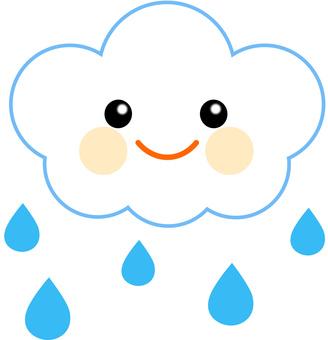 Cloud and rain icon