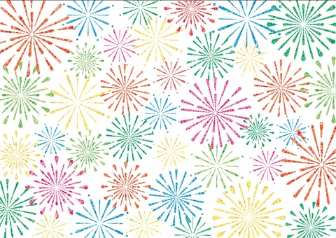 Colorful fireworks (full background)