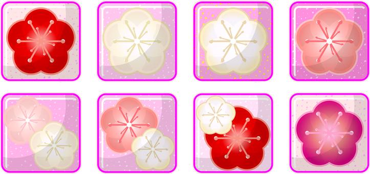 Plum icon decoration etc.