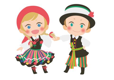 Polish national costume