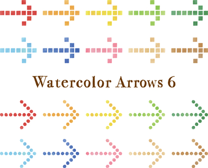 Watercolor Touch Arrow Set Part 6