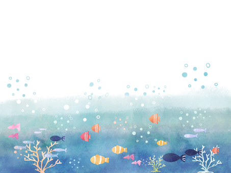 Fish swimming with the sea 01