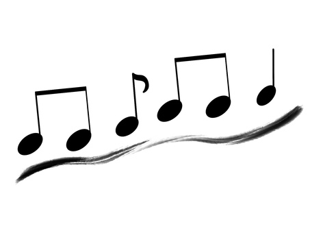 Musical note line material