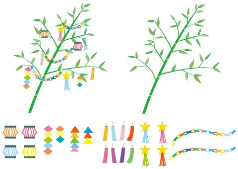 Tanabata decoration parts