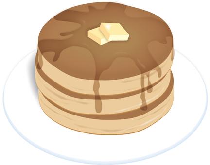 식품 팬케익 (3 단)