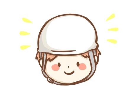 戴頭盔微笑的人