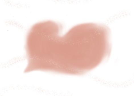 Heart cloud pink
