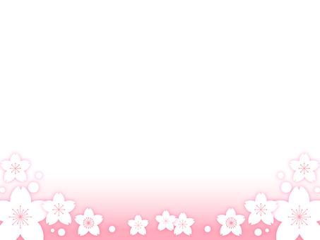 Cherry blossom decorative frame 11