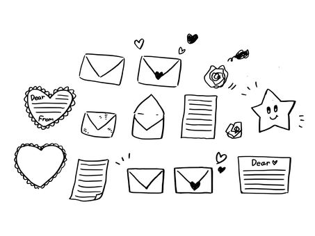 Hand-drawn letters · Stationery note