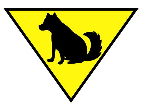 A dog (▽)