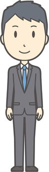 New graduate suit male-204 - whole body