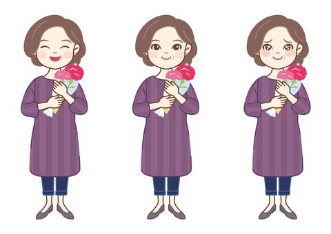 꽃을 가진 엄마